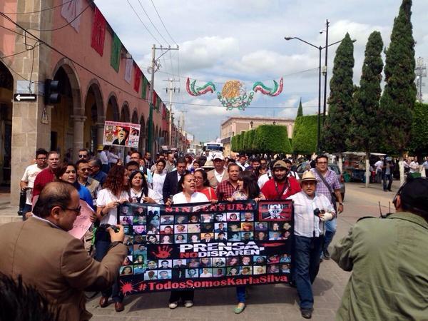 protesta periodistas silao