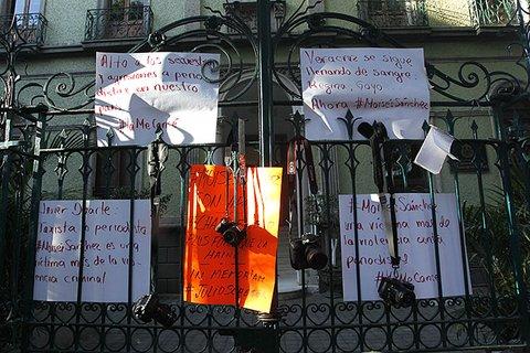 protesta moises sanchez